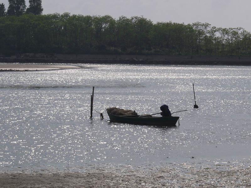 Gewitterstimmung in der Lagune von Grado