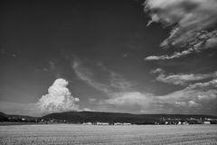 Gewitterwolke über dem Königstuhl