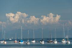 Gewitterwolken über dem See