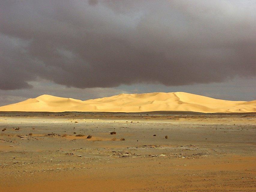 Gewitterwolken über den Dünen