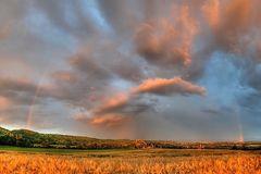 Gewitterwolken über Rommersdorf