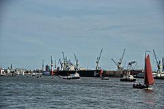 Gewusel auf der Elbe