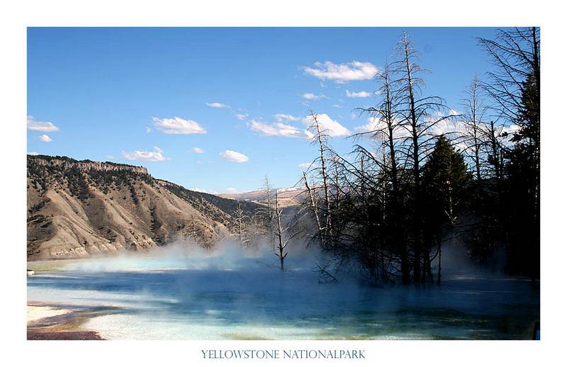 Geysirlandschaft im Yellowstone Nationalpark, USA
