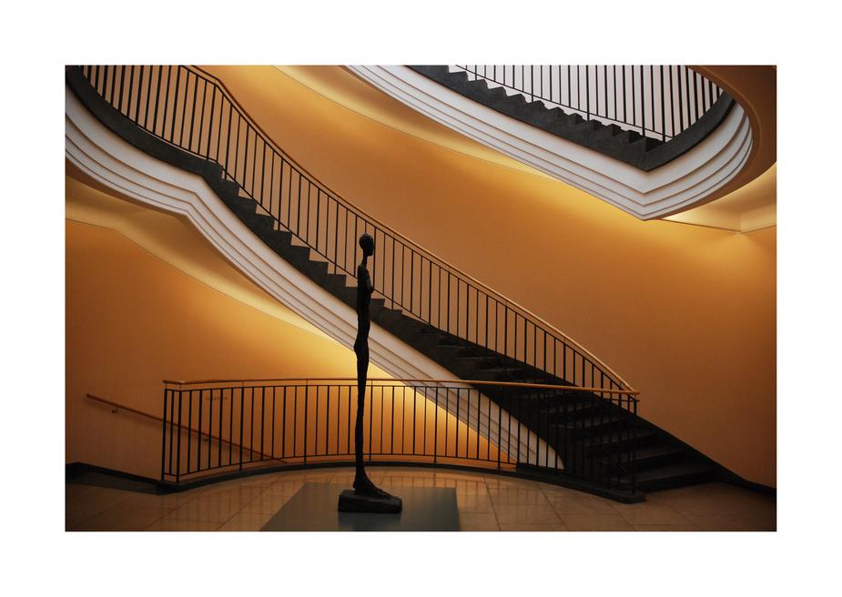 Giacometti im Treppenhaus