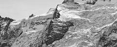 GIESSENGLETSCHER mit Jungfraujoch und Sphinx-Observatorium