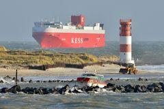 Giganten auf und vor Helgoland