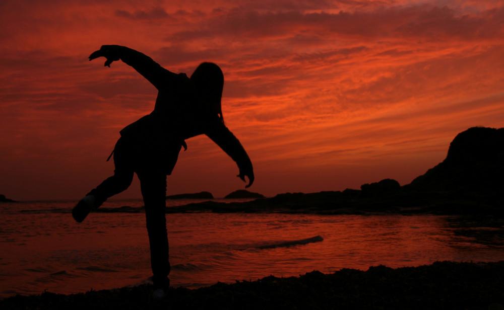 Giocando al tramonto