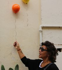 Giocare con il palloncino....