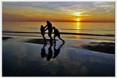 giocare in spiaggia ...