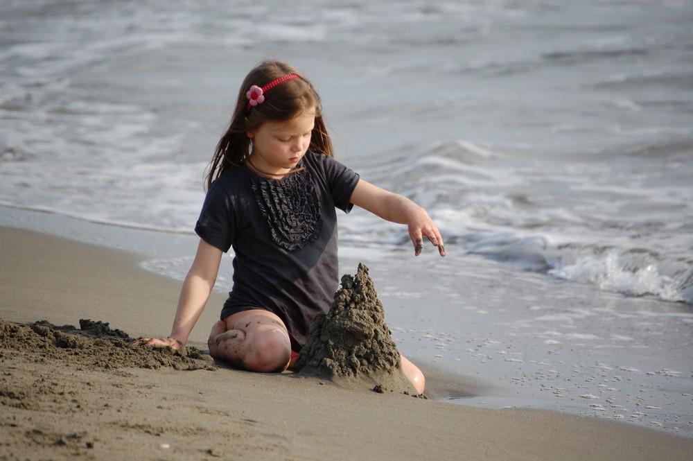 giochi semplici in riva al mare