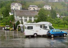 Giornata piovosa a Geiranger.