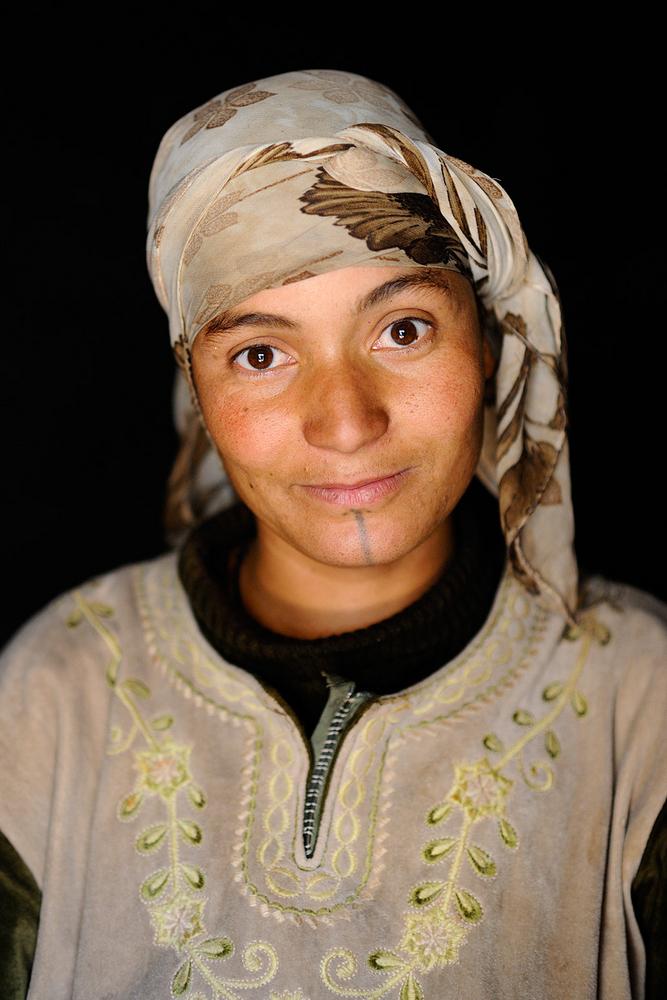 Giovane donna berbera