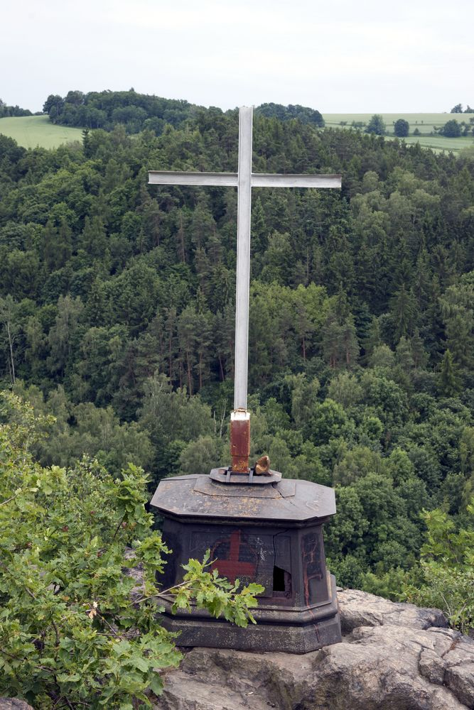 Gipfel des Götterfelsen in Meißen