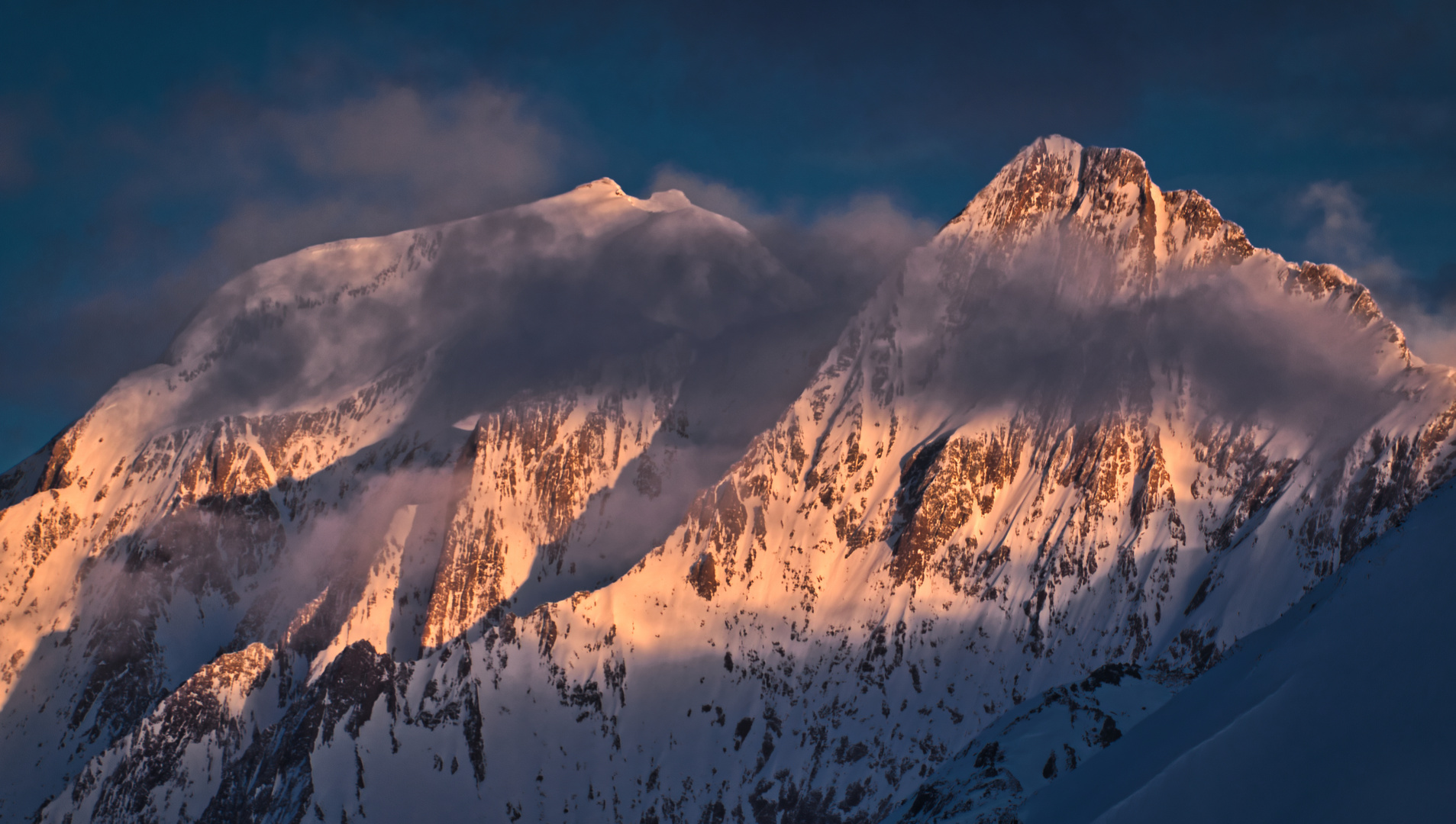 Gipfel im Abendlicht