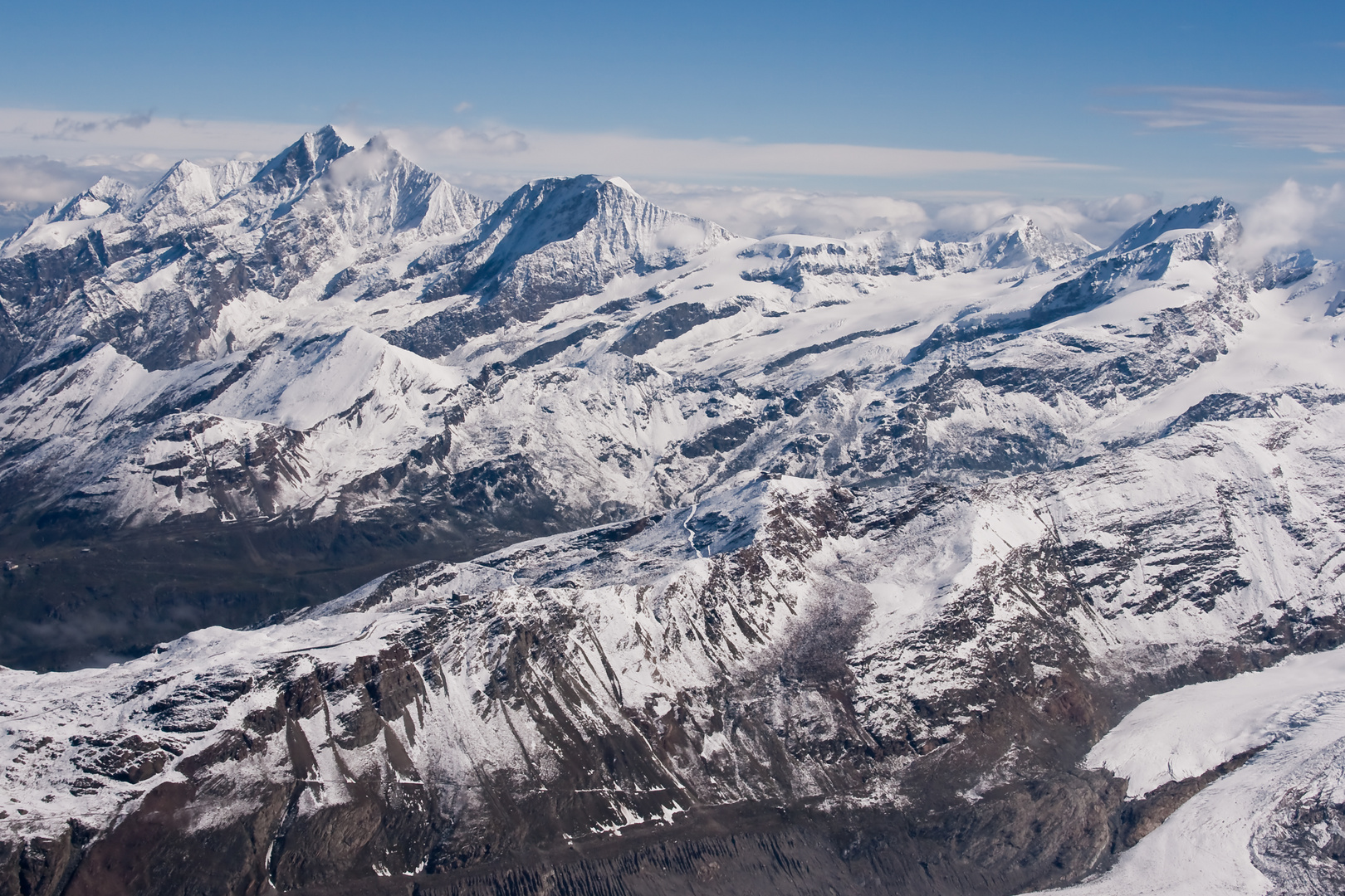 Gipfelausblick Breithorn 3