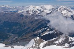 Gipfelblick Allalinhorn 1