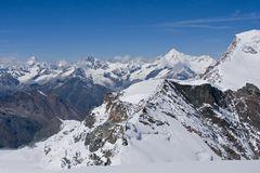 Gipfelblick Allalinhorn 4