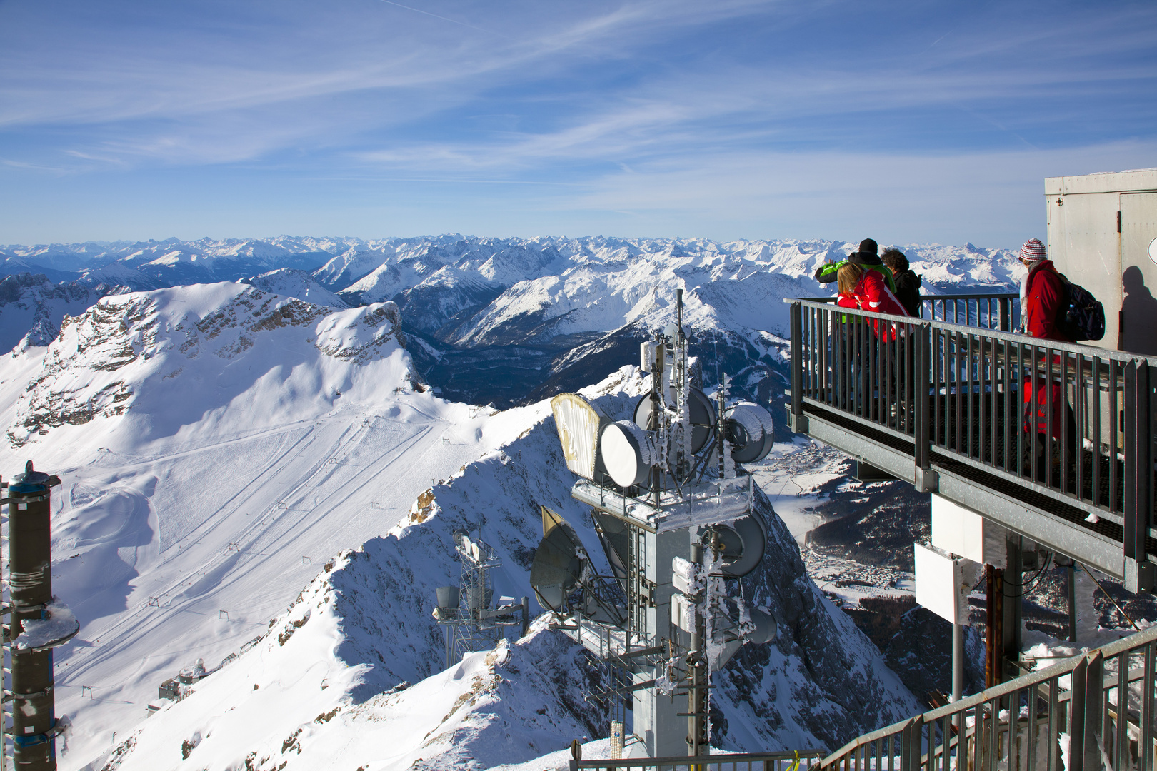 Gipfelpanorama auf der Zugspitze