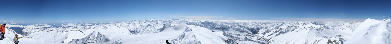 Gipfelpanorama Großvenediger 3662m