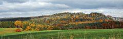 Gipfelpanorame des Rauensteins  (Sächsische Schweiz )und goldener geht es kaum noch