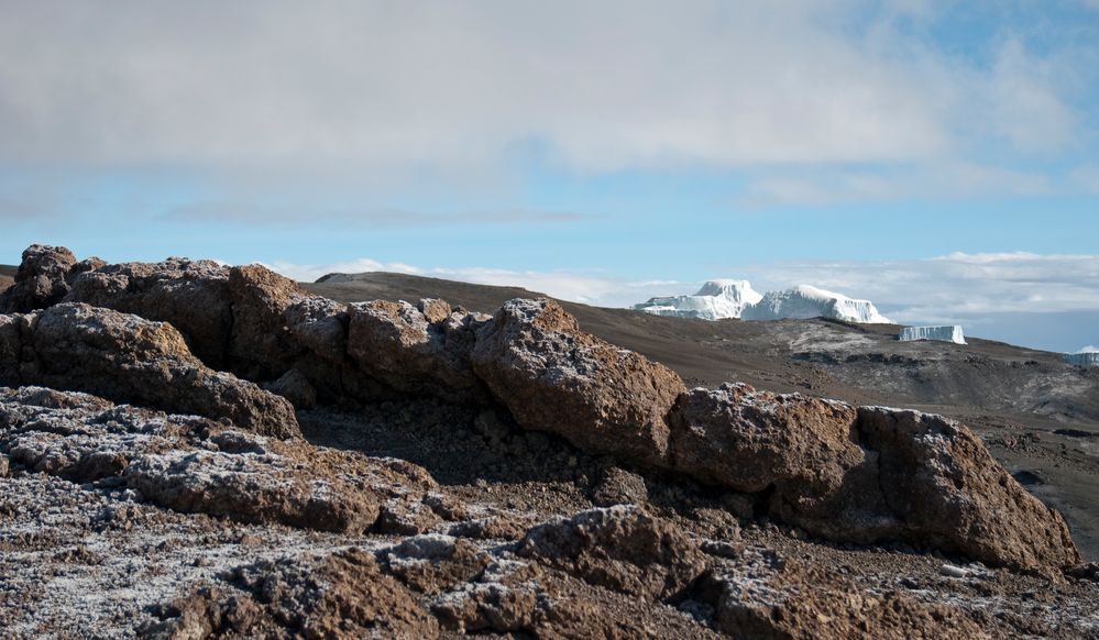 Gipfelplateau am Kilimanjaro
