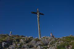 Gipfelrast auf dem Kofel