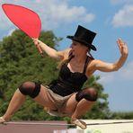 Girl hält Balance #2