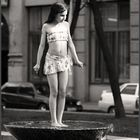 Girl on the fountain