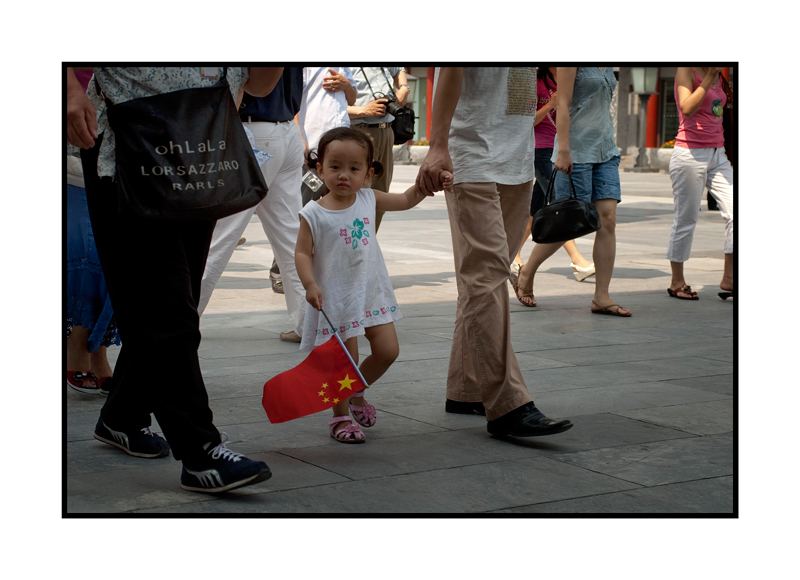 Girl with PRC flag
