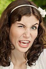 Girl with spiky teeth