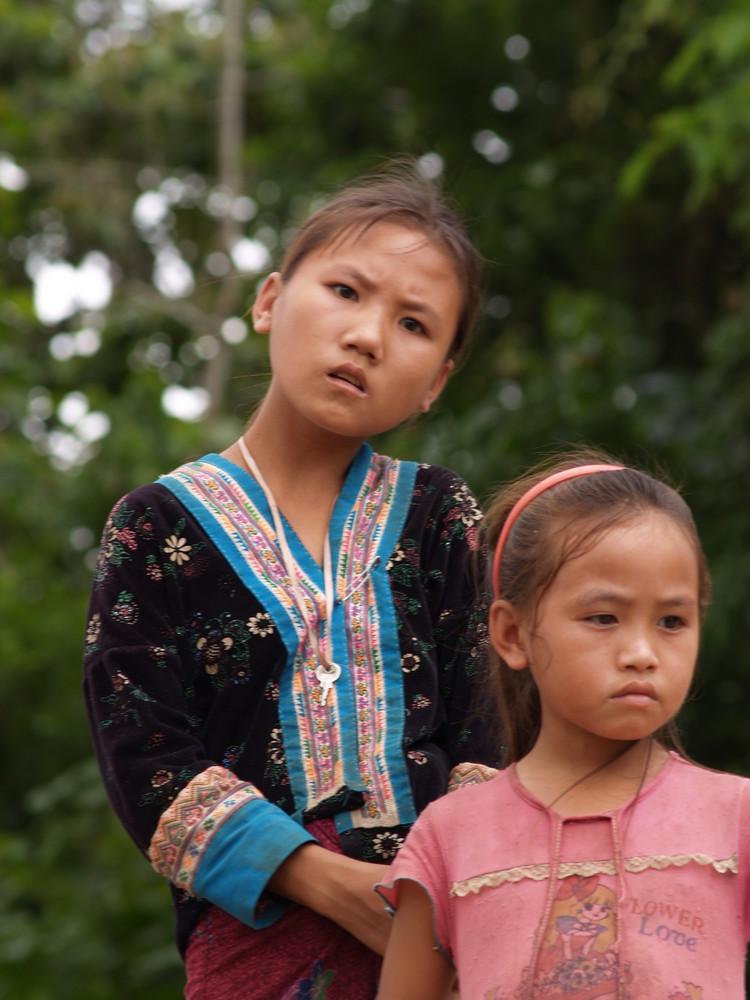 Girls along the Mekong river Laos