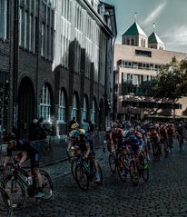 Giro Münsterland 2015 in der Kurve am Lazzaretti