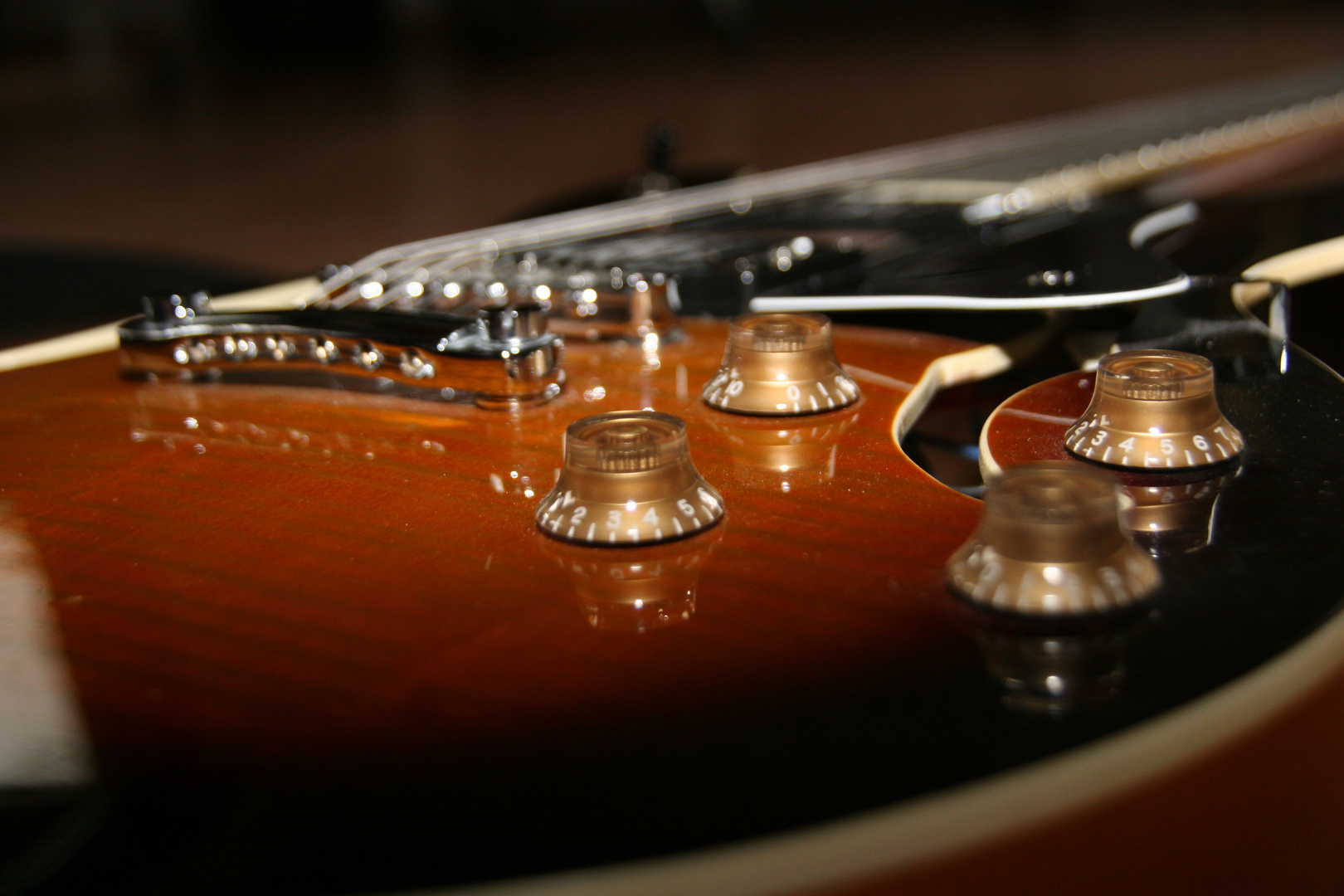 Gitarre in der Nahaufnahme