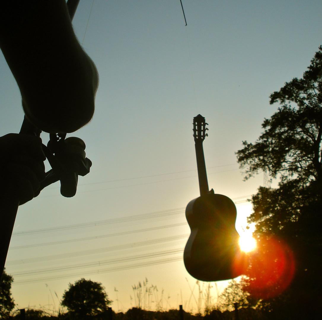 Gitarre und die Angel