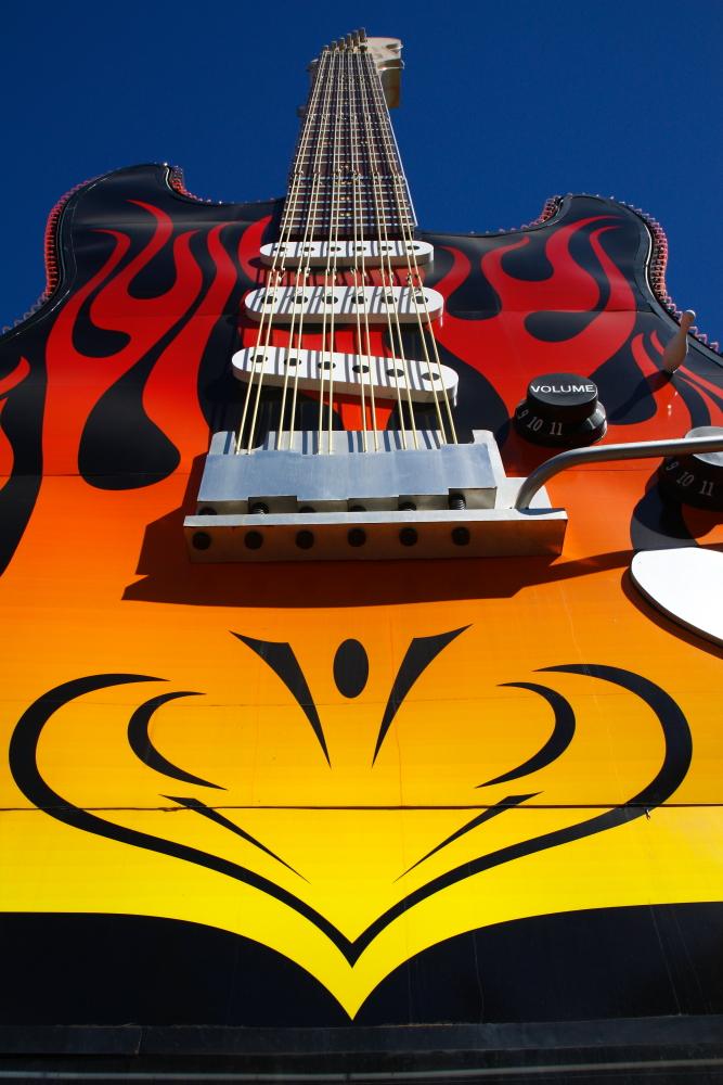 Gitarre vorm Hardrock Cafe