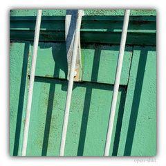 Gitter vor Grün