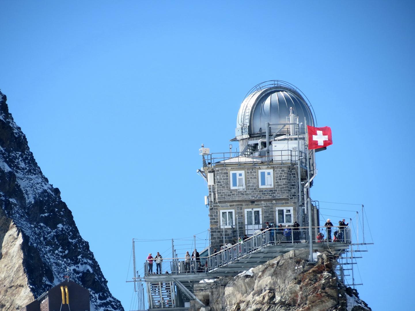 Gitterrost-Aussichts-Plattform der Sphinxausbau Jungfraujoch