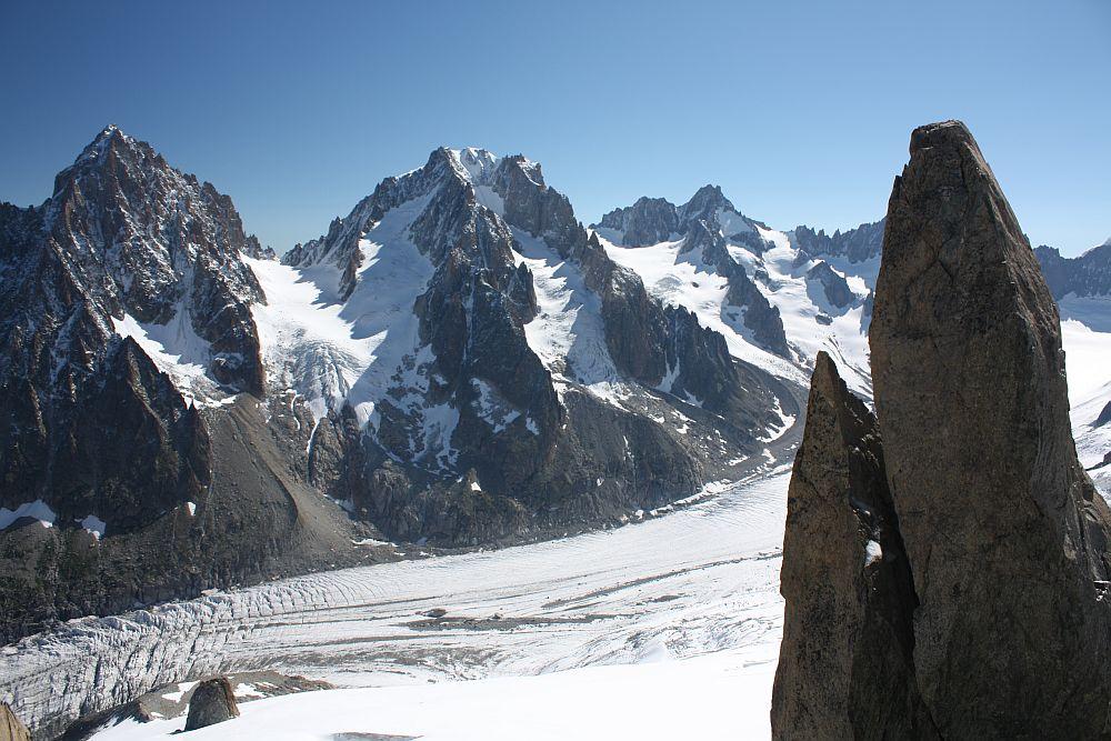 Glacier de Argentiere aus der Vogelperspektive...