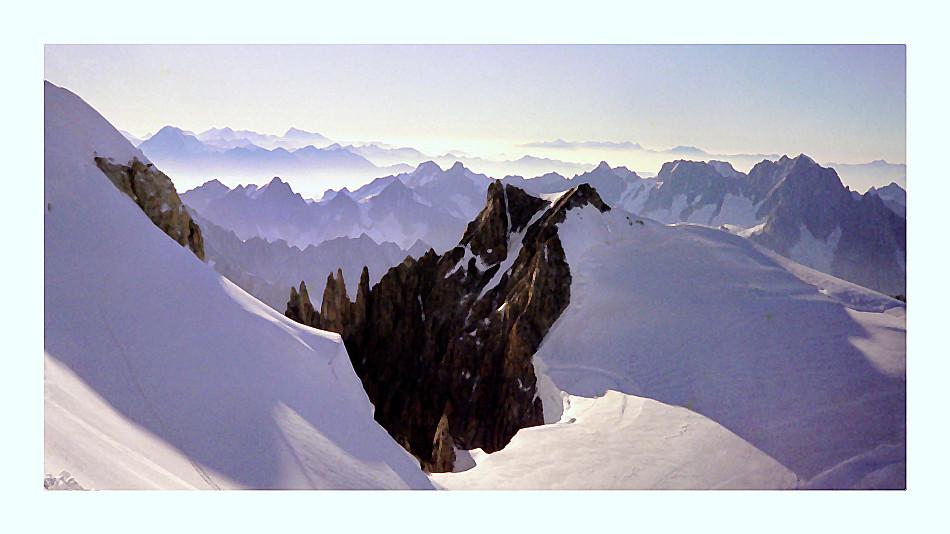Glacier du Mont Blanc, au petit matin