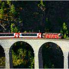 Glacier Express on Landwasser Viadukt