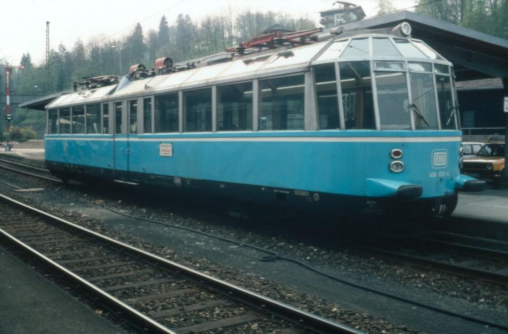 Gläserner Triebwagen in Berchtesgaden