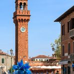 Glas-Skulptur in Murano/Venedig
