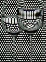 Glas vor Lochblech