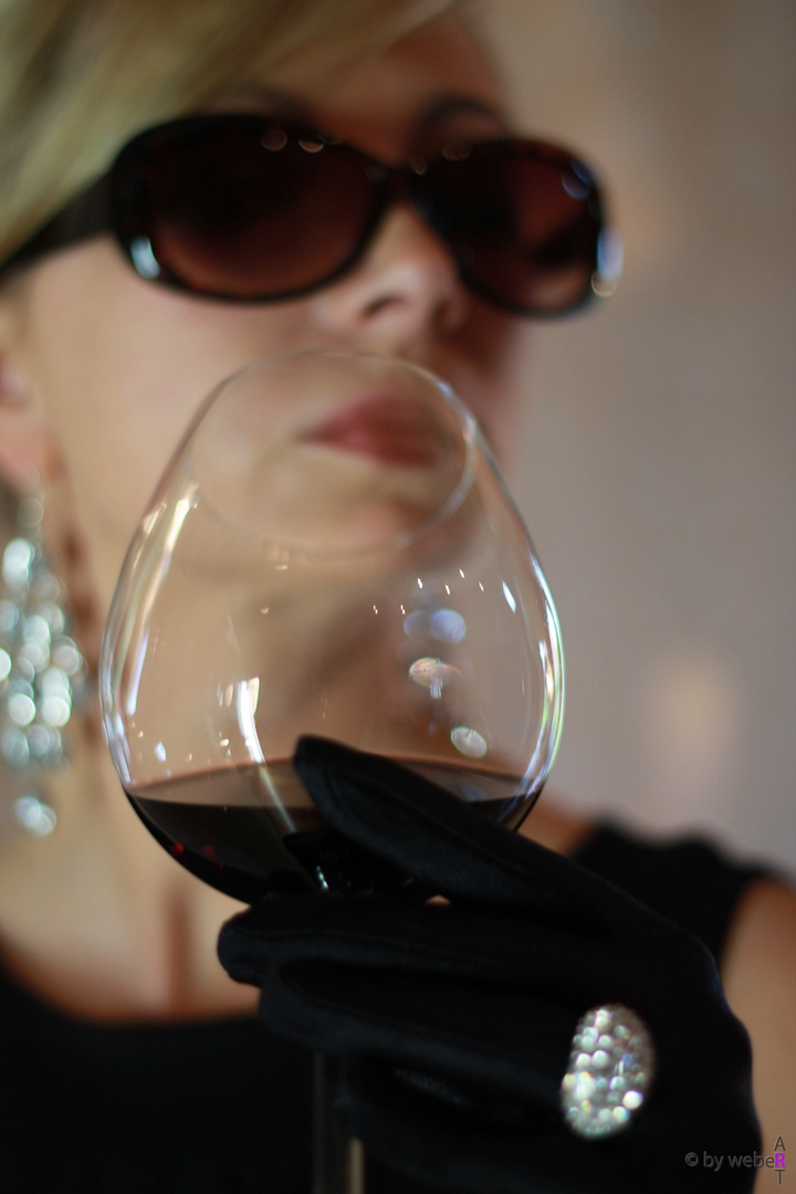 Glas Wein !