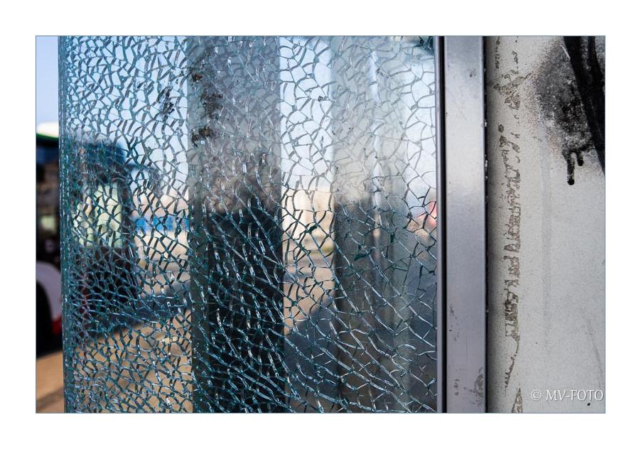 Glasbruch - Vandalismus