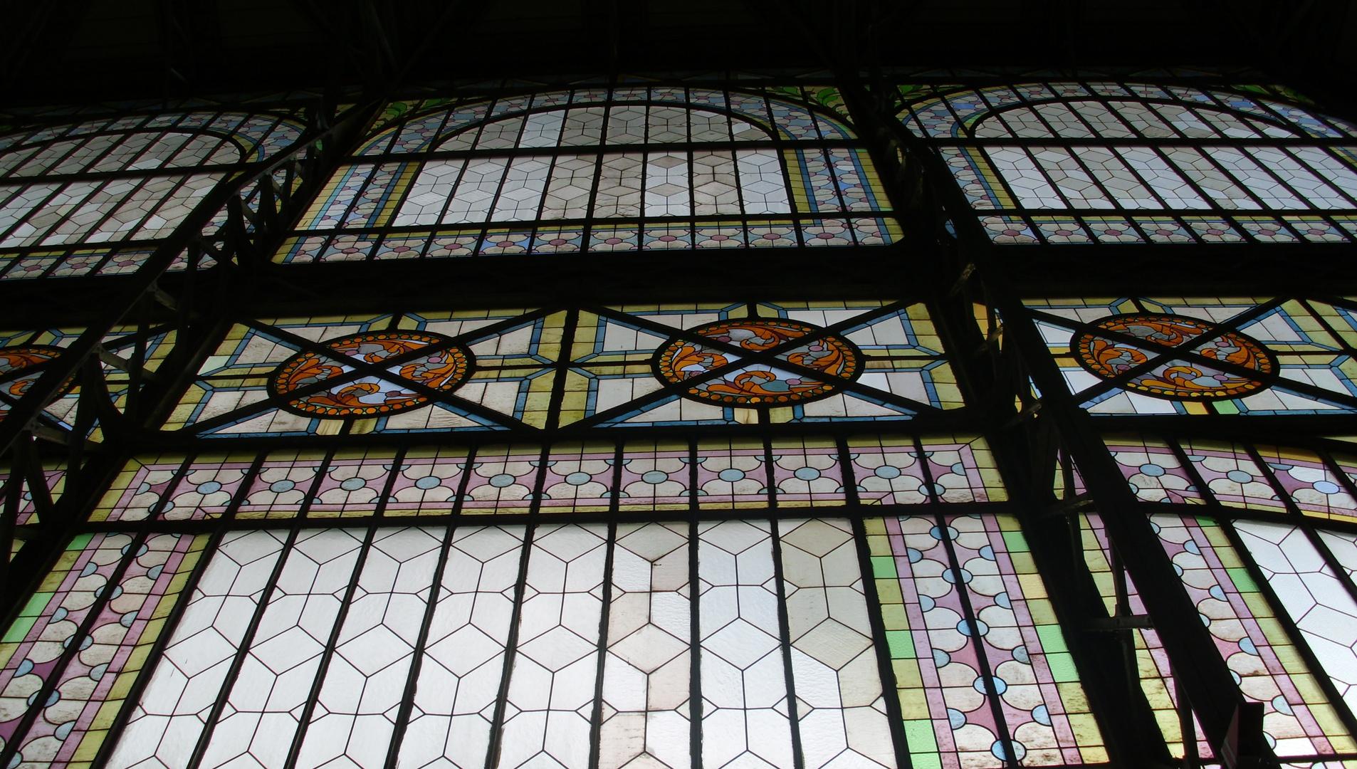 Glasfenster Industriepalast Prag