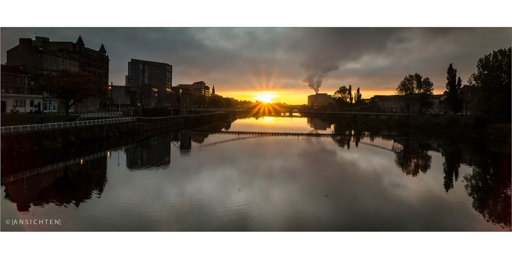 [glasgow - sunrise over clyde]