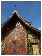 Glasmosaik am Wat Xieng Thong - Luang Prabang, Laos