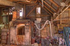 Glasofen - Töpferei von Barry Brickell in Coromandel Town