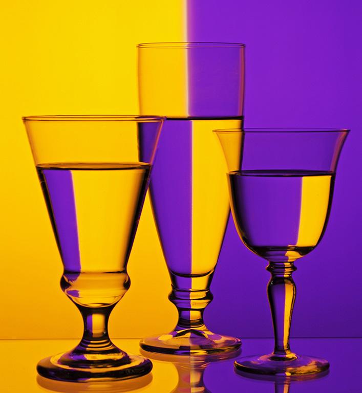 Glass Amber Purple